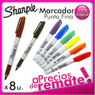 Plumon Sharpie Permanente Multiuso Punta Fina Colores