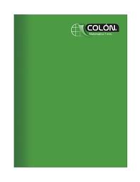 Cuaderno Doblez Colon 100hj Mat.7mm