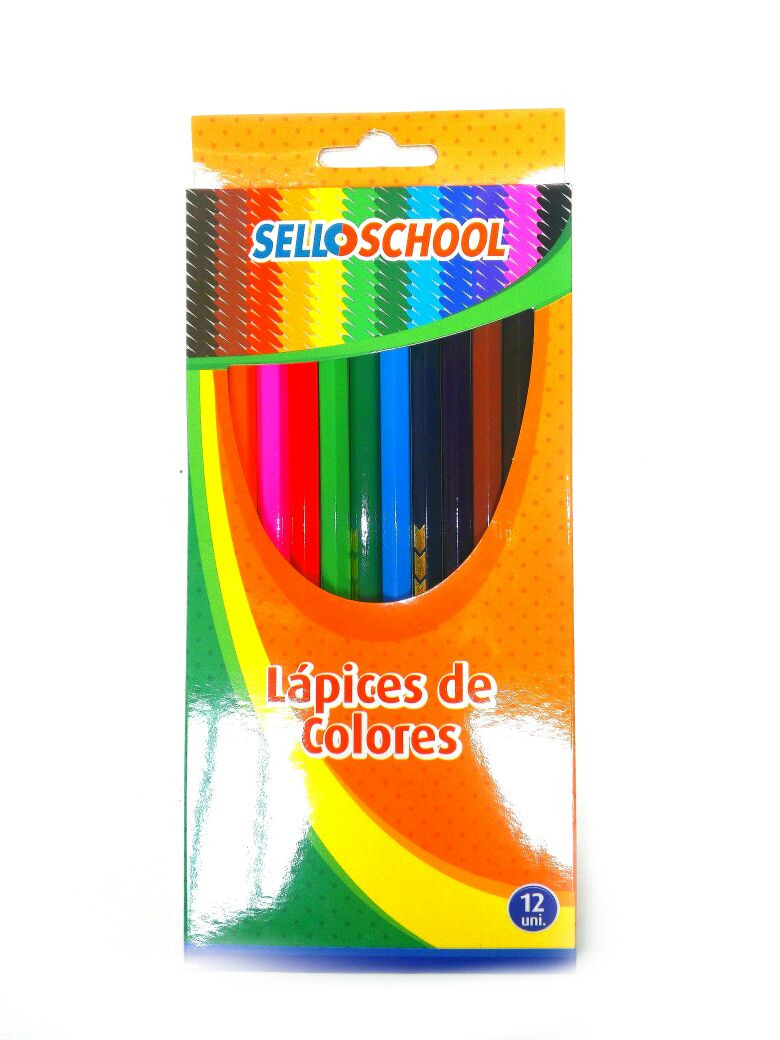 Lapiz Color Selloffice 12 Colores Largo